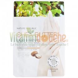 Masque Soin Mains Nature Republic Hydratation Beurre de Karité