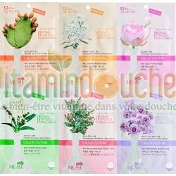 Pack de 6 Masques de Soin Visage d'extrait de souches de plantes